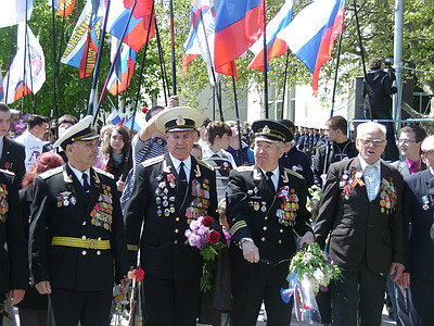 Парад ветеранов в Севастополе