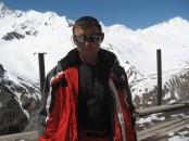 Саша Климов после восхождения