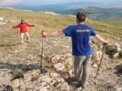 Виктор и Алексей демонстрируют первую стадию горной болезни (фаза возбуждения)