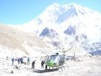 Гости с родины прилетели к нам на вертолёте