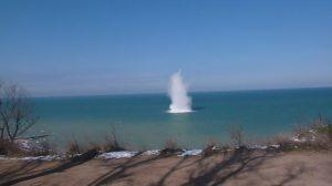 """Взрыв бомбы на пляже """"Толстяк"""""""