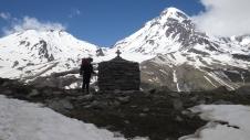 Перевал Саберце и Казбек