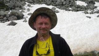 журналист и оператор экспедиции - В. Илларионов