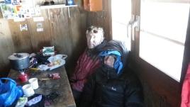 Замороженные Юра и Володя после спуска с вершины