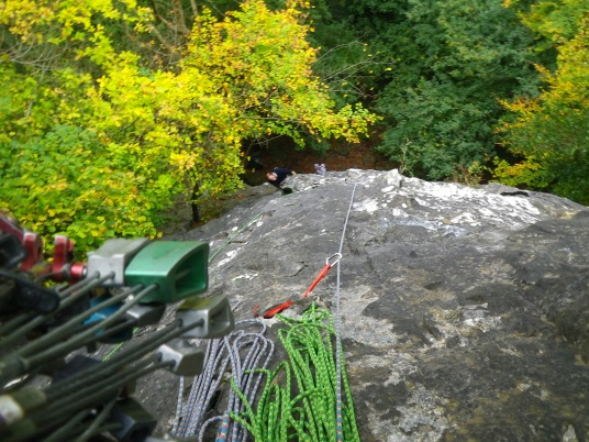 Shorn Cliff, маршрут Easy Rider, E1, Вид сверху вниз