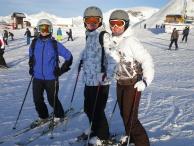 Мама, дядя Юра и тётя Аня - защита тыла для нас с Алисой на спусках