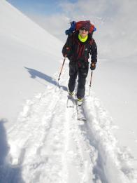 Юрий Круглов на лыжне вверх