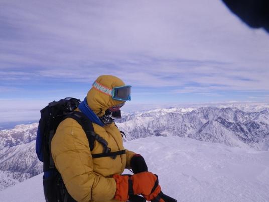 Алексей Ковалёв на вершине Казбека