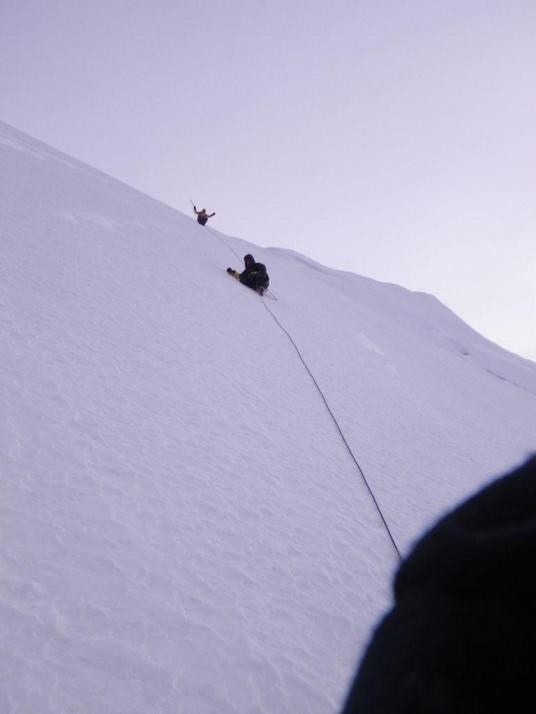 На спуске с вершины
