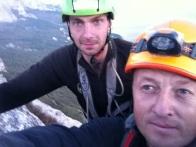 Александр Заколодний и Юрий Круглов на вершине