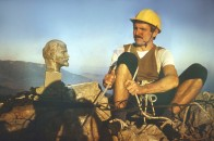 И.К. Кавер и В.И. Ленин (слева) на Зубцах Ай-Петри на маршруте Фролова-Гончарова. 20 век.