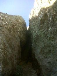 Сужающийся камин. Вид вверх с пункта R8