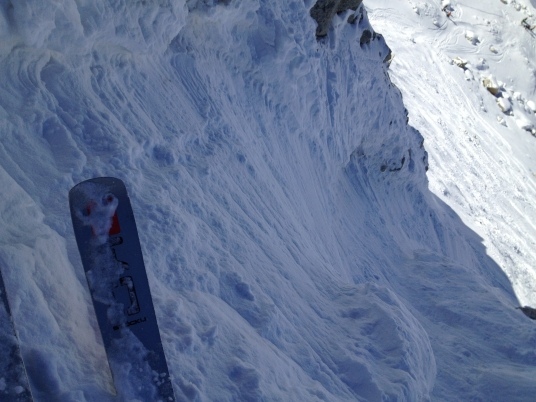 Участок второго ключа: узкий проход к Mer de Glace среди скал. Падать запрещено