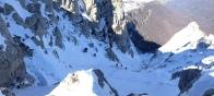 Юные альпинисты растянулись в районе горловины