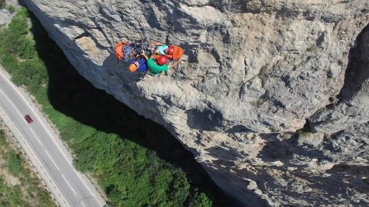 Наша тренировка по спасработам. Вид из космоса. Фото Е. Ручкан