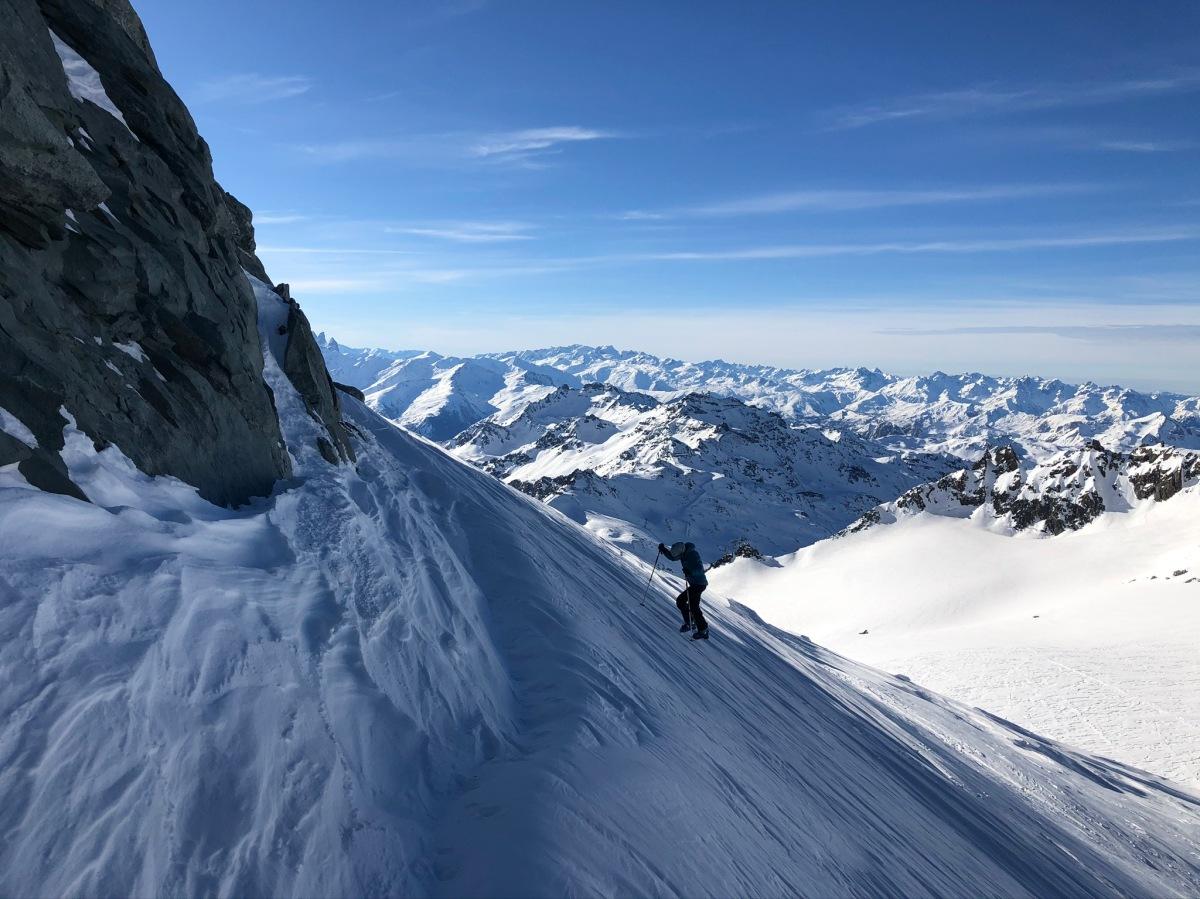 подъём с перевала Col de Gébroulaz